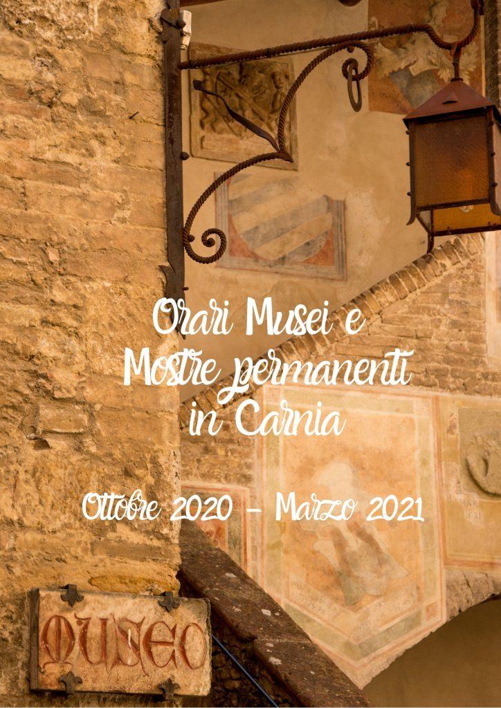 Orari Musei e Mostre Permanenti   Ottobre 2020/Marzo 2021
